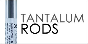 Tantalum rods for tantalum marking