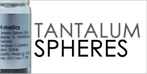Spheres in Tantalum