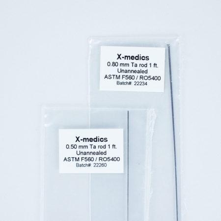 Tantalum Rod - straightened wire - Test samples