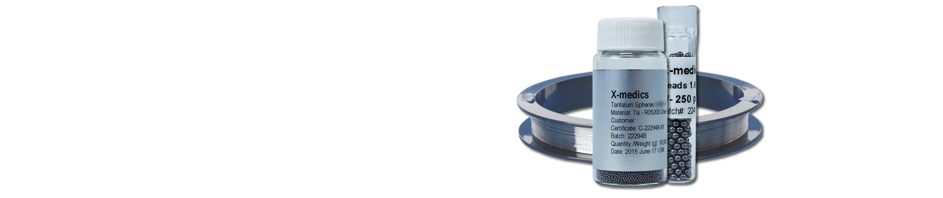 Tantalum medical grade products