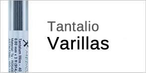 varillas de tantalio
